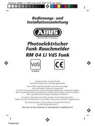 Photoelektrischer Funk-Rauchmelder RM 04 Li VdS ... - MCS Security