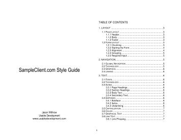 SampleClient.com Style Guide