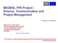 BEOBAL - Scienceá Communication and Project Management