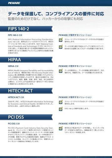 FIPS 140 2 HITECH ACT HIPAA PCI DSS - XLsoft.com