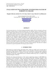 evaluation of two ultrasonic systems for analysis of porosity in ceramic