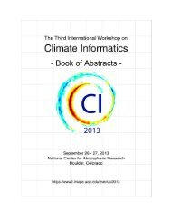 Book of Abstracts - IMAGe - University Corporation for Atmospheric ...