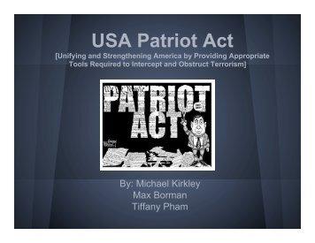 USA PATRIOT Act Presentation .pptx