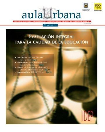 Magazin Aula Urbana Edición numero 69 - IDEP