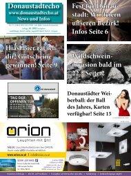 stadt: Wir feiern unseren Bezirk! Infos Seite 6 ... - Donaustadtecho