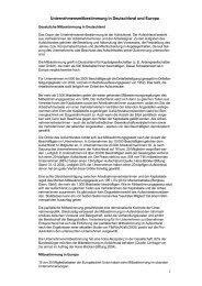 Unternehmensmitbestimmung in Deutschland und ... - Welt der Arbeit
