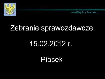 4. Sołectwo Piasek - Pszczyna
