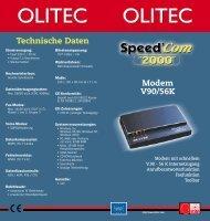 Datenblatt (pdf) - Olitec