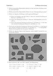 ¨Ahnlichkeit Prüfungsvorbereitung 1. Welche geometrischen ... - gxy.ch