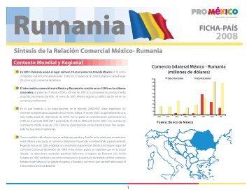Síntesis de la Relación Comercial México- Rumania
