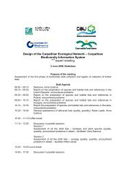 Agenda - The Carpathian EcoRegion Initiative