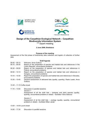 Agenda - The Carpathian EcoRegion Initiative