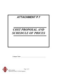 Attachment P.7 - Cost Proposal and Schedule of Prices