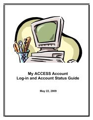 My ACCESS Account Log-in and Account Status Guide - Florida ...