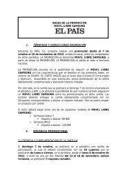 BASES DE LA PROMOCIÓN - El País