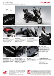 Download the brochure - Honda