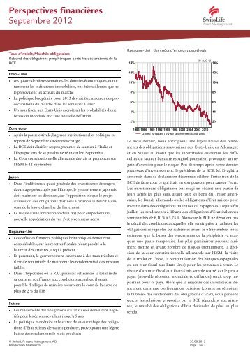 Perspectives financières 09/12 - Swiss Life