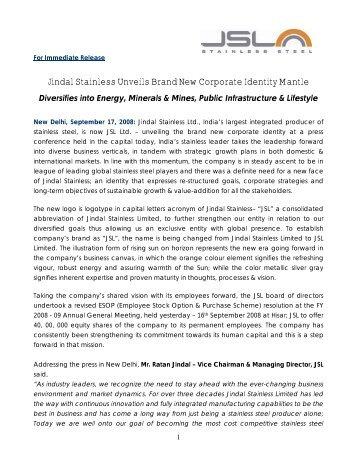 JSL NEW ID Press Release - Indian Stainless Steel Development ...