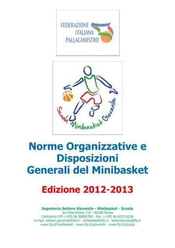 Norme Organizzative e Disposizioni Generali Nazionali 2012-2013