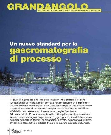 gascromatografia di processo GRANDANGOLO - Promedianet.it