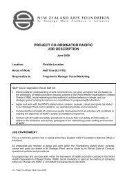 project co-ordinator pacific job description - New Zealand Aids ...