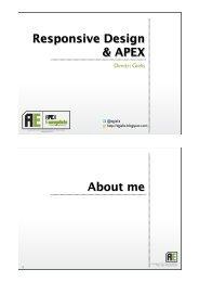 Responsive design & apex