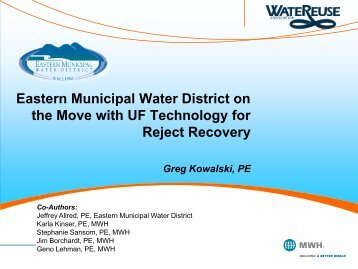 Eastern Municipal Water District on the Move with UF Technology for ...
