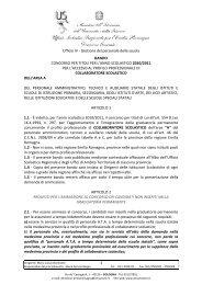 Bando Collaboratore Scolastico - Centro servizi amministrativi di ...