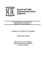 ANSI/SCTE 54 2009