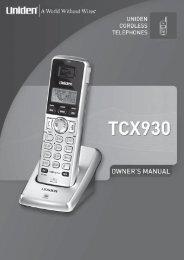 TCX930 - at Uniden