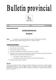 Examen et recrutement n°5 du 12 novembre 2012