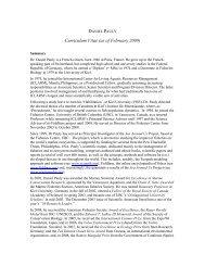 Curriculum vitae - Institute for Ocean Conservation Science