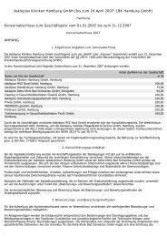 Konzernabschluss zum Geschäftsjahr vom 01.01.2007 bis
