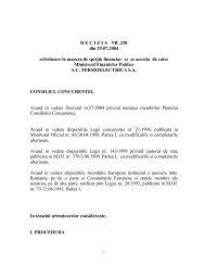 DECIZIA NR .228 din 29.07.2004 referitoare la masura de sprijin ...