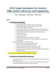 Lisa Nerenberg, MSW, MPH - Legal Assistance for Seniors