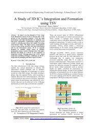 A Study of 3D IC's Integration and Formation using TSV - IJETT ...