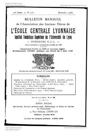 Revue Technica, année 1930, numéro 261 - Histoire de l'École ...