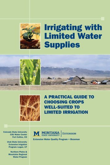 Irrigating with Limited Water Supplies - Northern Plains and ...