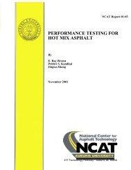 performance testing for hot mix asphalt - Auburn University