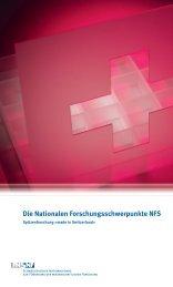 Spitzenforschung - Schweizerischer Nationalfonds (SNF)