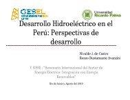 Desarrollo Hidroeléctrico en el Perú: Perspectivas de ... - Nuca