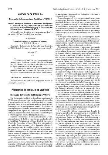 Resolução do Conselho de Ministros n.º 11/2012 - Eurocid