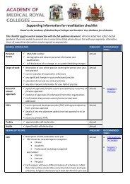 Surgical Revalidation Checklist