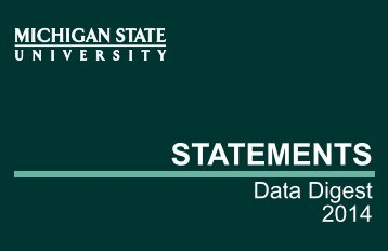 MSU Statements - Office of Planning and Budgets - Michigan State ...