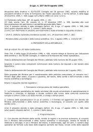 D.Lgs. n. 257 del 8 agosto 1991 - Agenzia di Sanità Pubblica della ...