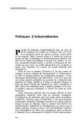 Politiques d'industrialisation - Politique Africaine