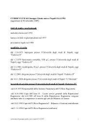 Curriculum del Dott. Giuseppe Giunto - Università degli studi di ...