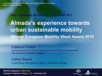 Almada's experience towards urban sustainable mobility