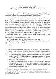 2012 Nagasaki Declaration - UNU-ISP - United Nations University
