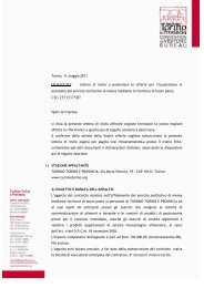 lettera invito gara buoni pasto 11-05-11 - Turismo Torino